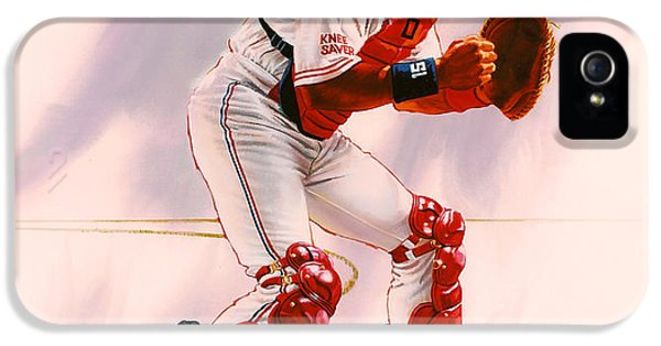 Los Angeles Dodgers iPhone 5s Case - Sandy Alomar by Dick Bobnick