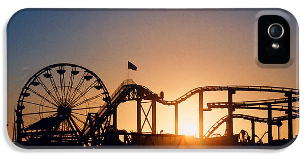Santa Monica iPhone 5s Case - Santa Monica Pier by Art Block Collections