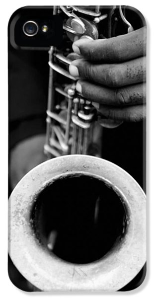 IPhone 5s Case featuring the photograph Sax Player by Dave Beckerman