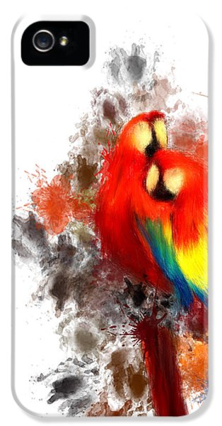 Macaw iPhone 5s Case - Scarlet Macaw by Lourry Legarde