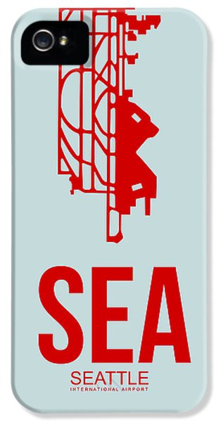 Seattle iPhone 5s Case - Sea Seattle Airport Poster 1 by Naxart Studio