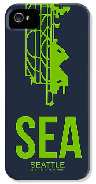 Seattle iPhone 5s Case - Sea Seattle Airport Poster 2 by Naxart Studio