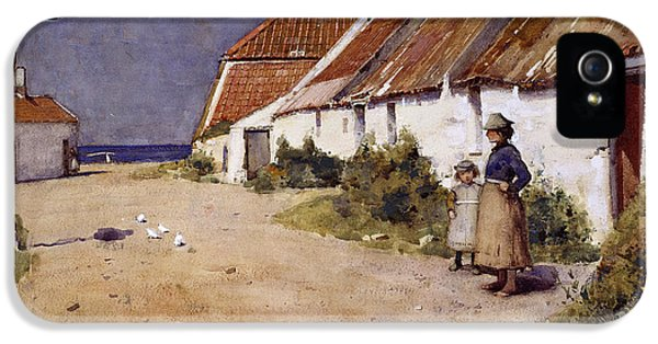 Seaside Cottages With Dovecot IPhone 5s Case by Edward Arthur Walton