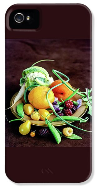 Raspberry iPhone 5s Case - Seasonal Fruit And Vegetables by Romulo Yanes