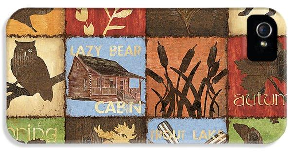 Trout iPhone 5s Case - Seasons Lodge by Debbie DeWitt