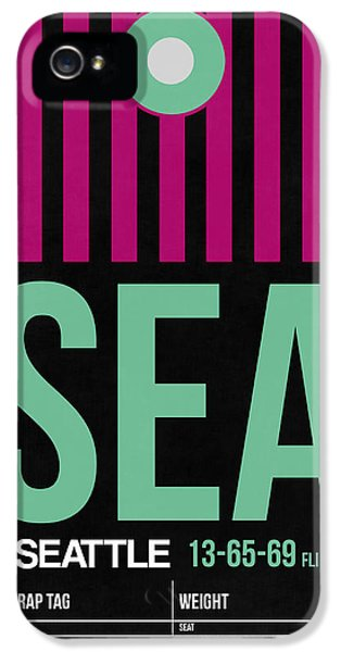 Seattle iPhone 5s Case - Seattle Airport Poster 4 by Naxart Studio