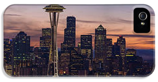 Seattle Cityscape Morning Light IPhone 5s Case by Mike Reid