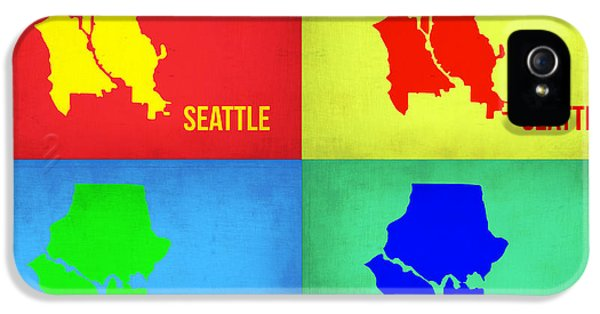 Seattle iPhone 5s Case - Seattle Pop Art Map 1 by Naxart Studio