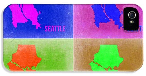 Seattle iPhone 5s Case - Seattle Pop Art Map 2 by Naxart Studio