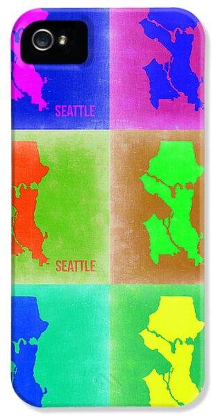 Seattle iPhone 5s Case - Seattle Pop Art Map 3 by Naxart Studio