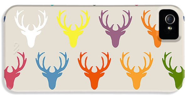 Seaview Simple Deer Heads IPhone 5s Case by Sharon Turner