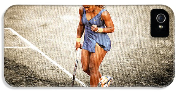 Serena Williams Count It IPhone 5s Case by Brian Reaves