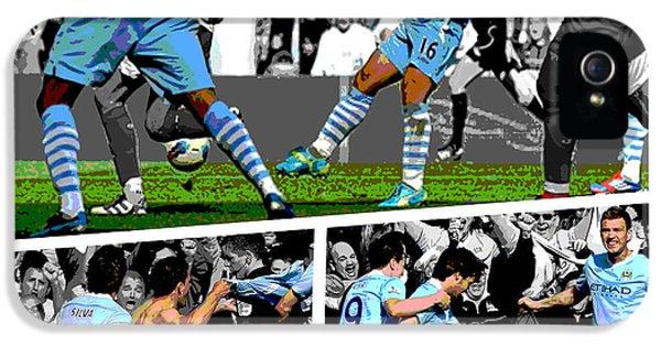 City iPhone 5s Case - Sergio Aguero Goal Vs Qpr by Pro Prints