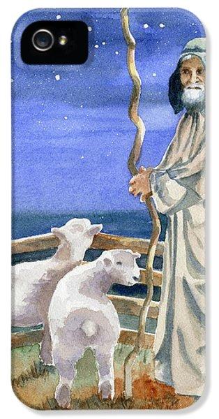 Sheep iPhone 5s Case - Shepherds Watched Their Flocks By Night by Marsha Elliott