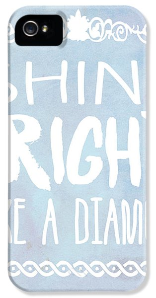 Rihanna iPhone 5s Case - Shine Bright Blue by Pati Photography