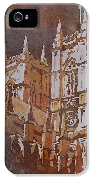 Westminster Abbey iPhone 5s Case - Shining Out Of The Rain by Jenny Armitage