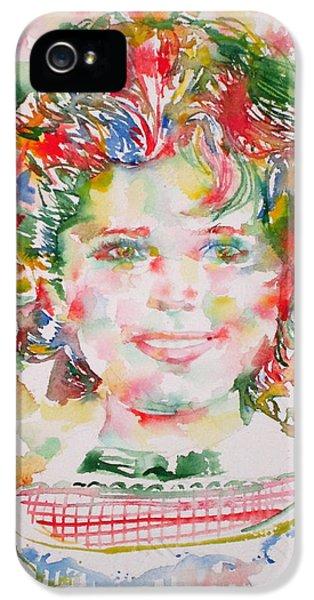 Shirley Temple iPhone 5s Case - Shirley Temple - Watercolor Portrait.1 by Fabrizio Cassetta
