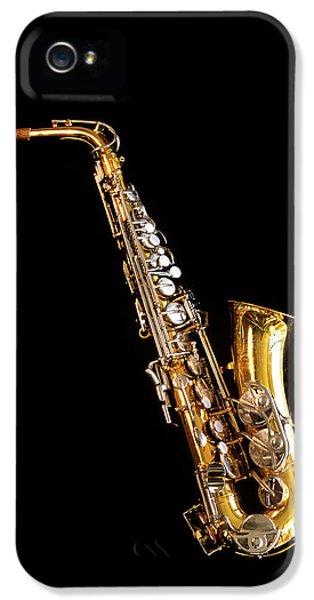 Single Saxophone Against Black IPhone 5s Case