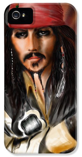 Sketching A Pirate... IPhone 5s Case by Alessandro Della Pietra