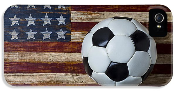 Soccer Ball And Stars And Stripes IPhone 5s Case