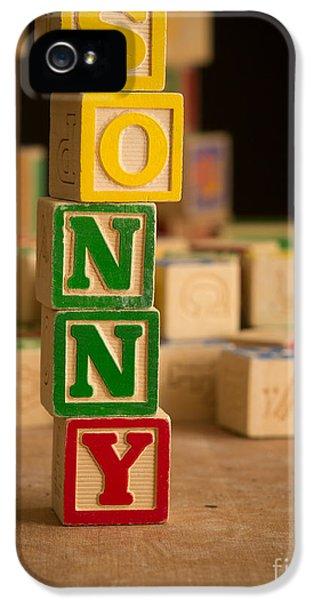 Sonny iPhone 5s Case - Sonny - Alphabet Blocks by Edward Fielding