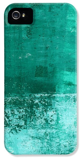 Soothing Sea - Abstract Painting IPhone 5s Case by Linda Woods