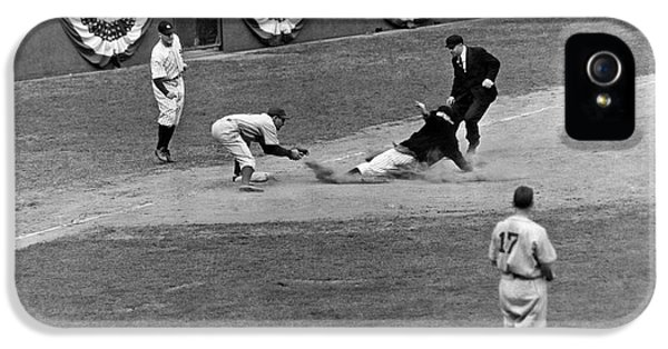 Spud Chandler Is Out At Third In The Second Game Of The 1941 Wor IPhone 5s Case by Underwood Archives