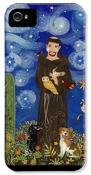 Woodpecker iPhone 5s Case - St. Francis Starry Night by Sue Betanzos