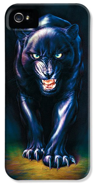 Stalking Panther IPhone 5s Case by Andrew Farley