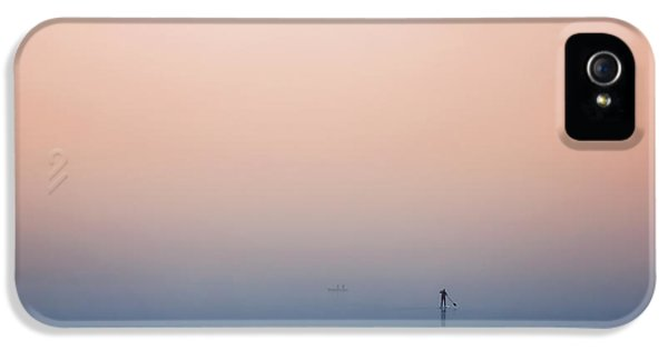 Pastel Colors iPhone 5s Case - Stand Up Paddling by Uschi Hermann