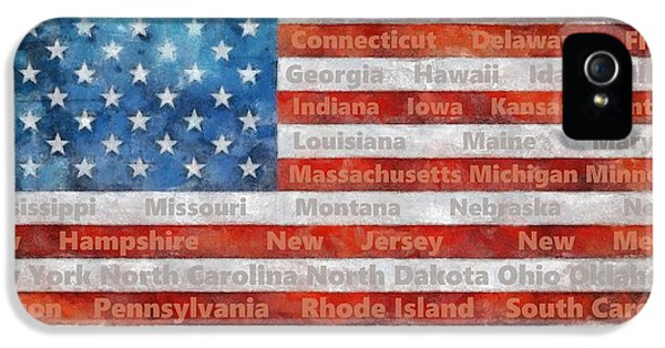 Stars And Stripes With States IPhone 5s Case