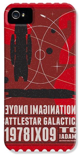 Science Fiction iPhone 5s Case - Starschips 02-poststamp - Battlestar Galactica by Chungkong Art