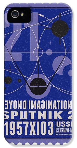 Science Fiction iPhone 5s Case - Starschips 21- Poststamp - Sputnik 2 by Chungkong Art