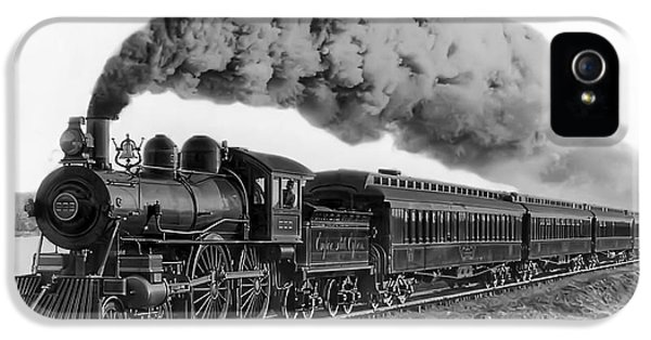 Train iPhone 5s Case - Steam Locomotive No. 999 - C. 1893 by Daniel Hagerman
