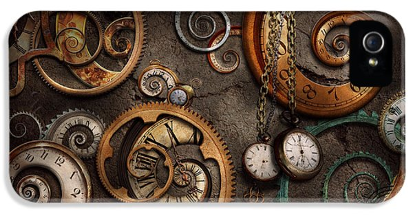 Nostalgia iPhone 5s Case - Steampunk - Abstract - Time Is Complicated by Mike Savad
