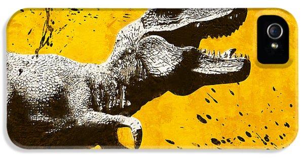 Stencil Trex IPhone 5s Case by Pixel Chimp