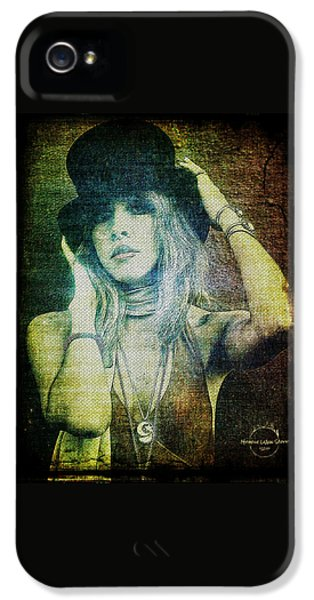 Rock And Roll iPhone 5s Case - Stevie Nicks - Bohemian by Absinthe Art By Michelle LeAnn Scott
