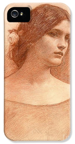 Etching iPhone 5s Case - Study For The Lady Clare by John William Waterhouse