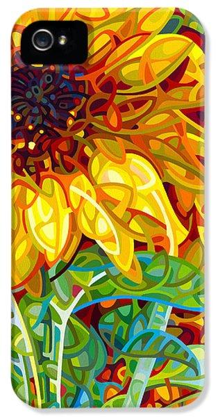 Sunflower iPhone 5s Case - Summer In The Garden by Mandy Budan