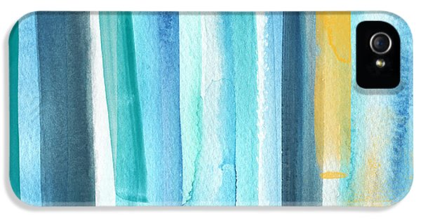 Santa Monica iPhone 5s Case - Summer Surf- Abstract Painting by Linda Woods