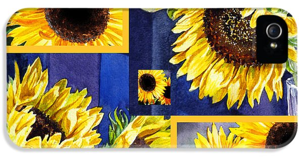Sunflowers Sunny Collage IPhone 5s Case by Irina Sztukowski