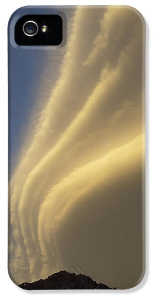 Whitehouse iPhone 5s Case - Sunset On Storm Clouds Near Mt Cook by Ian Whitehouse