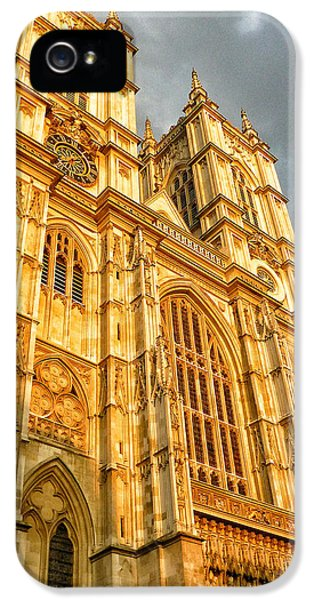 Westminster Abbey iPhone 5s Case - Sunset On The Abbey  by Connie Handscomb