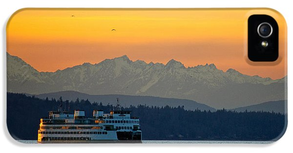 Sunset Over Olympic Mountains IPhone 5s Case