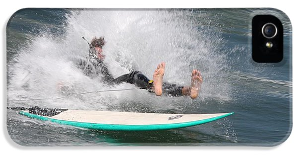 IPhone 5s Case featuring the photograph Surfer Wipeout by Nathan Rupert