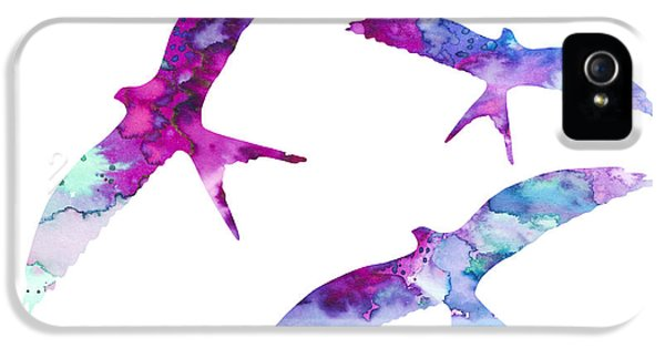 Swallow iPhone 5s Case - Swallows by Watercolor Girl