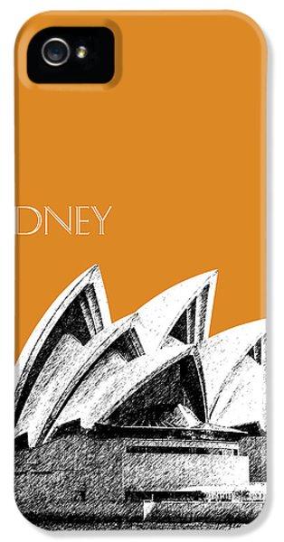 Sydney Skyline 3  Opera House - Dark Orange IPhone 5s Case