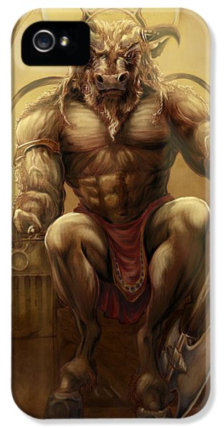 Minotaur iPhone 5s Case - Taurus II by Rob Carlos