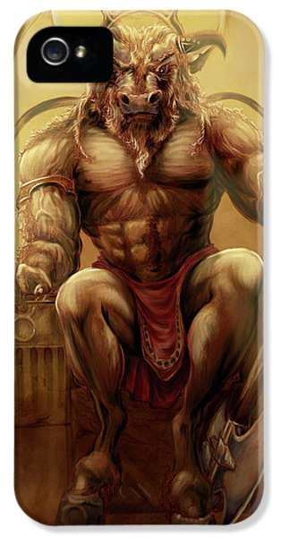Minotaur iPhone 5s Case - Taurus by Rob Carlos
