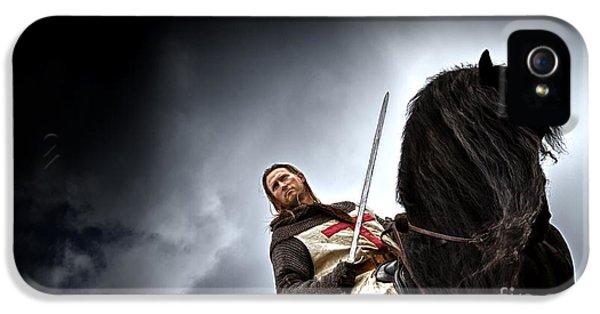 Templar Knight Friesian II IPhone 5s Case by Holly Martin